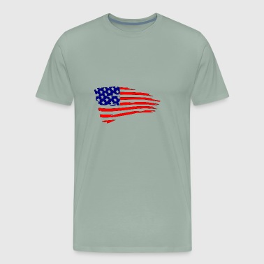 USFlagRed Blue - Men's Premium T-Shirt