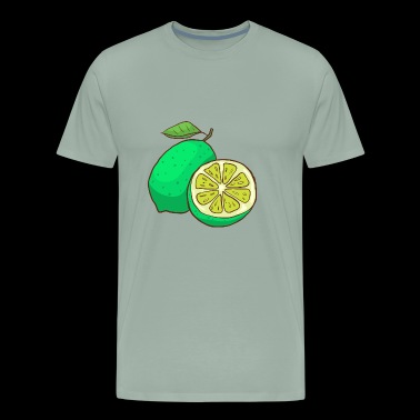 Green Lime Citrus - Men's Premium T-Shirt
