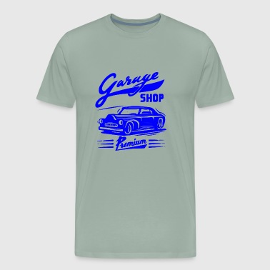 GIFT - GARAGE SHOP BLUE - Men's Premium T-Shirt