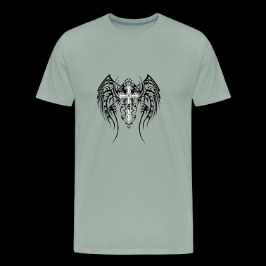 Cross and angel wings - Men's Premium T-Shirt