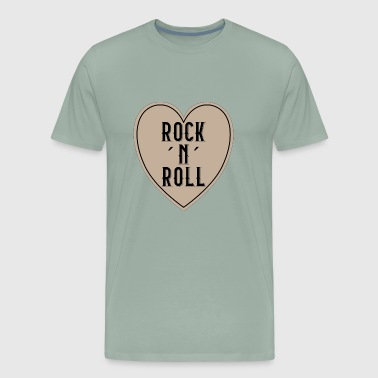 I LOVE ROCK N ROLL HEART - Men's Premium T-Shirt