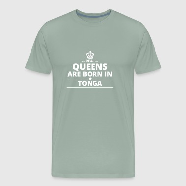 LOVE GESCHENK queens born in TONGA - Men's Premium T-Shirt