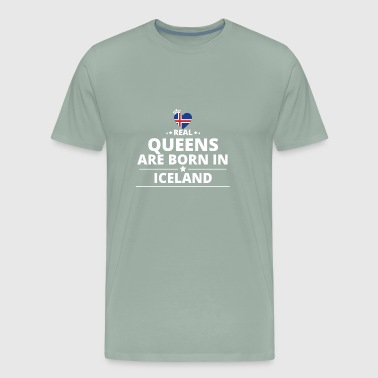 queens from geschenk i love ICELAND - Men's Premium T-Shirt