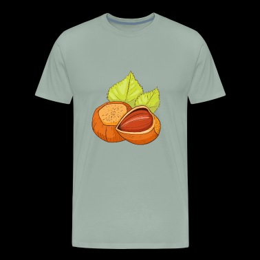 Hazelnut Hazel Nuts Nut Hazelnuts - Men's Premium T-Shirt