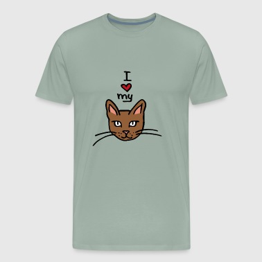 I love my cat , cute gift idea - Men's Premium T-Shirt