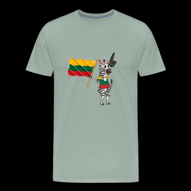 A Lithuanian Zebra - Men's Premium T-Shirt