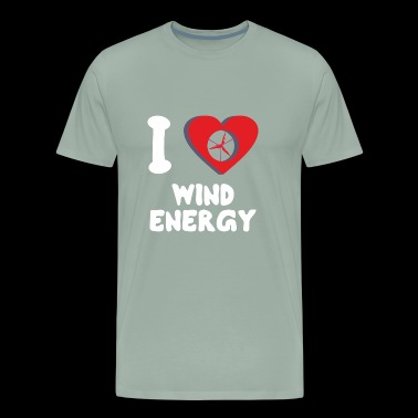 Green Power I Love Wind Energy - Men's Premium T-Shirt