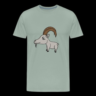 sweet little grey goat - Men's Premium T-Shirt