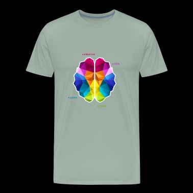Brain brainstorm color vector illustration image - Men's Premium T-Shirt