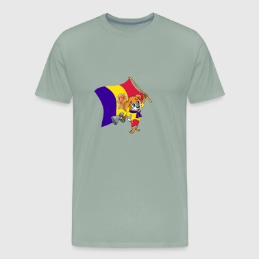 An Andorran Fan Dog - Men's Premium T-Shirt