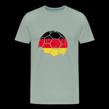 Germany Soccer Football Ball - Men's Premium T-Shirt
