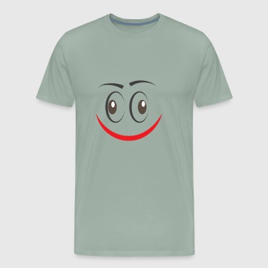 GIFT - FUNNY FACE RED - Men's Premium T-Shirt