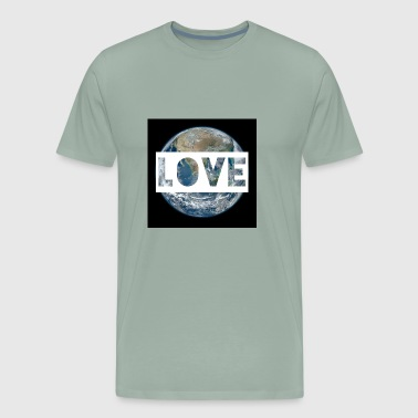 Love Mother Earth Gaia Humanity Love & Peace - Men's Premium T-Shirt