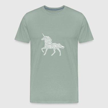 GIFT - UNICORN WHITE - Men's Premium T-Shirt