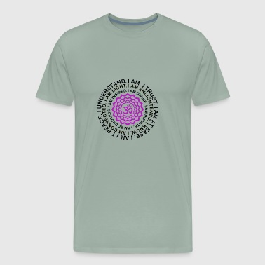 Yoga Love Gift- Crown Chakra - Mantra Yogi Present - Men's Premium T-Shirt