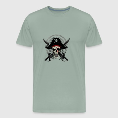 Cool Trendy Pirate Skull Design - Men's Premium T-Shirt