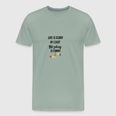 Life is scary - Men's Premium T-Shirt
