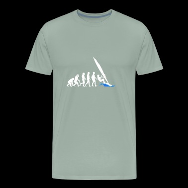 Windsurfing Water Sports Evolution - Men's Premium T-Shirt