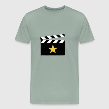 Movie Star Clapperboard Design for Film Lovers - Men's Premium T-Shirt