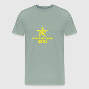 Star Was born in 2005, year of birth, gift - Men's Premium T-Shirt