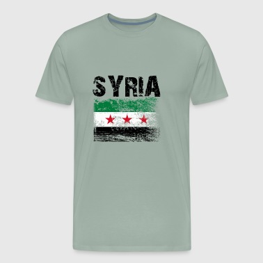 Syrian Free Army Flag - Men's Premium T-Shirt