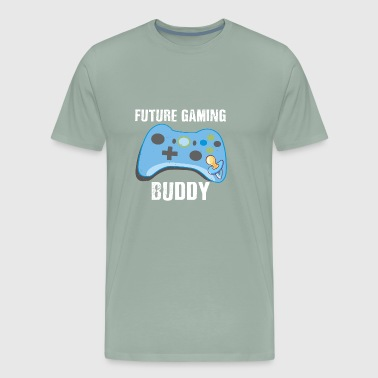 Cute Future Gaming Buddy Baby Gamer Parents - Men's Premium T-Shirt