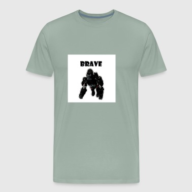 Design T-Shirt Monkey Brave - Men's Premium T-Shirt