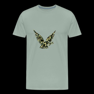 Dove of Peace, Woodland Camouflage - Men's Premium T-Shirt