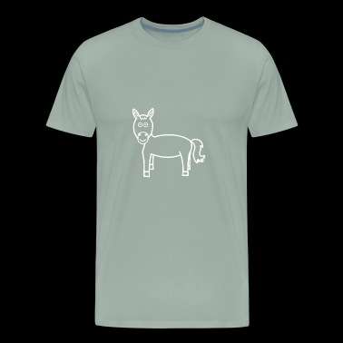 funny horse with big eyes - Men's Premium T-Shirt
