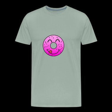 happy Donut smiley face kids shirt love - Men's Premium T-Shirt