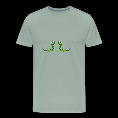 best friends snake animal funny kids baby child - Men's Premium T-Shirt
