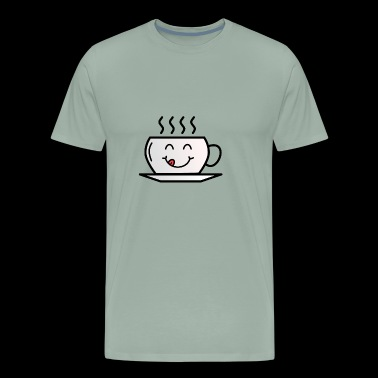 cuppa cup happy smiley kids shirt present birthday - Men's Premium T-Shirt