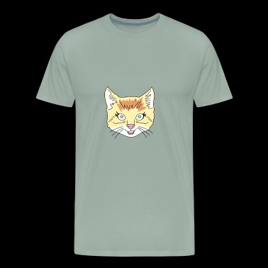 Animal Hipster - Cat - Men's Premium T-Shirt