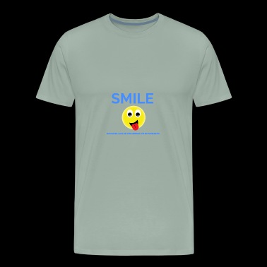 Smile because Life is too Short to Be Unhappy - Men's Premium T-Shirt