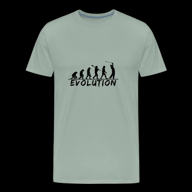 Evolution Golf, Golf, Golfer, Golfing, Game, fun - Men's Premium T-Shirt