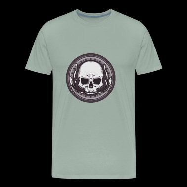 Vintage skull emblem logo vector awesome image art - Men's Premium T-Shirt