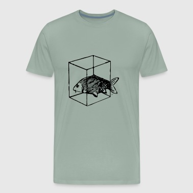 Fish in box black - Men's Premium T-Shirt