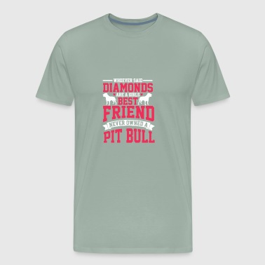 NEVER OWNED A PIT BULL - Men's Premium T-Shirt