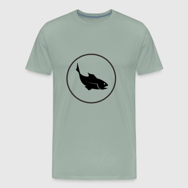 fish black - Men's Premium T-Shirt