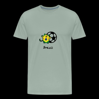 Brazil gift idea cat football - Men's Premium T-Shirt