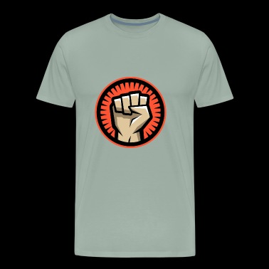 Hands clenched Circle - Men's Premium T-Shirt