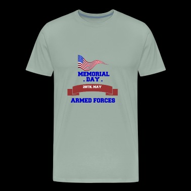 MEMORIAL DAY ARMED FORCES - Men's Premium T-Shirt