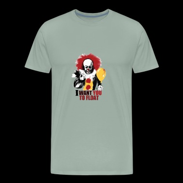 Creepy Pennywise LIGHT Version Art Character - Men's Premium T-Shirt