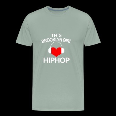 04 brooklyn girl hiphop - Men's Premium T-Shirt
