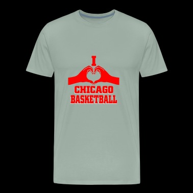 I Love chicago basketball - Men's Premium T-Shirt