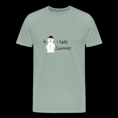 I hate Summer like a melting snowman - Men's Premium T-Shirt