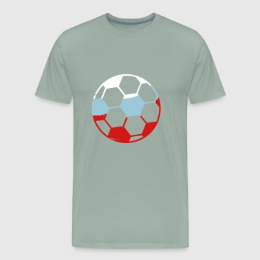 russia russia silhouette fan celebrate party ball - Men's Premium T-Shirt