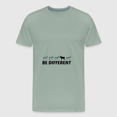 text different beel horse pony small packsel long - Men's Premium T-Shirt