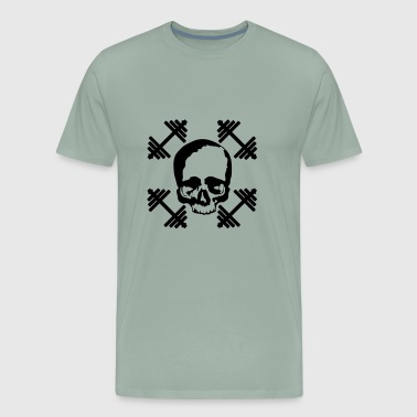 skull and dumbells - Men's Premium T-Shirt