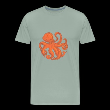 Octopus sea monster animal vector cartoon image - Men's Premium T-Shirt